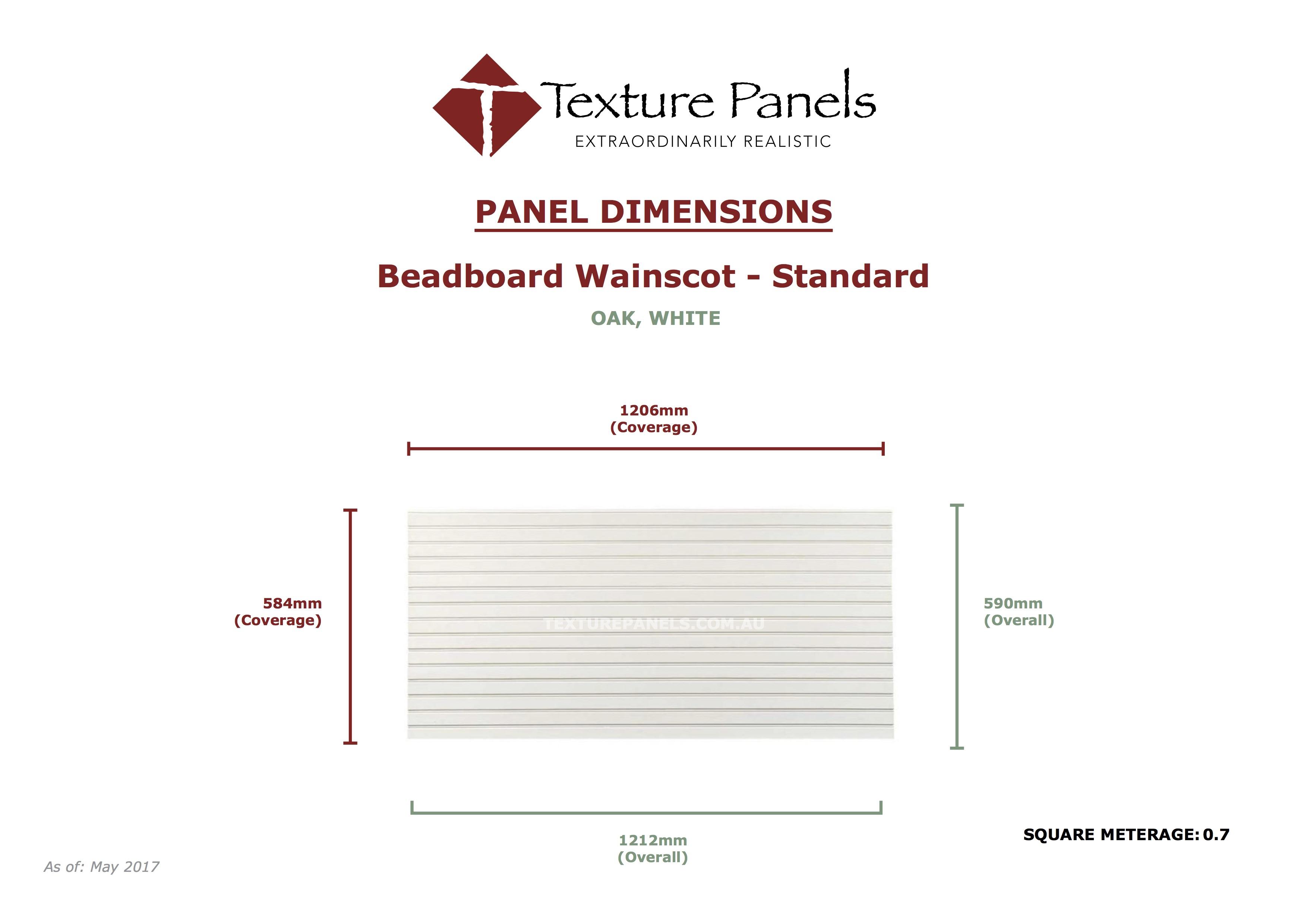 Beadboard Wainscot Faux Wall Panels Texture Panels